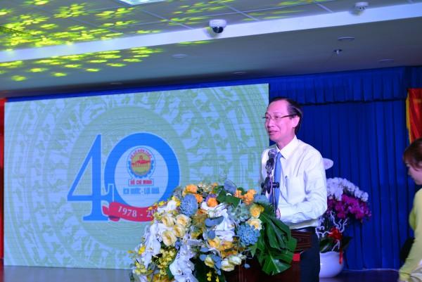 Phó Chủ tịch UBND TP.HCM - Lê Thanh Liêm phát biểu tại buổi lễ