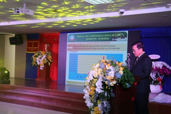 Ông Đỗ Quang Vinh – Bí Thư, Tổng Giám đốc Công ty Xổ số Kiến thiết Tp.HCM phát biểu tại buổi lễ