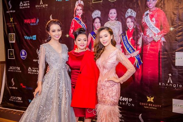 Giám khảo, diễn viên, nhà sản xuất phim Mai Thu Huyền, CEO Lâm Hoàng My và Giám khảo, chủ tịch tập đoàn Sài Gòn Smile Spa, nhà tài trợ Diamond Trần Thu Thủy