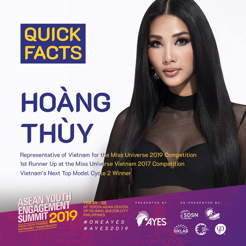 Hoang Thuy tro thanh dien gia AYES 2019
