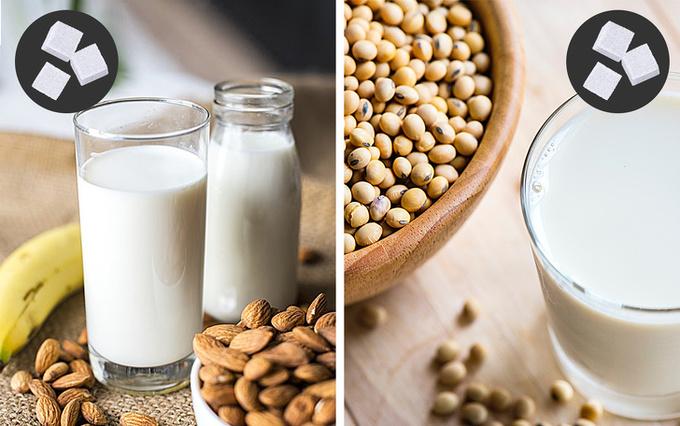 Sữa hạt chứa ít chất béo hơn sữa động vật và đem lại nhiều lợi ích cho cơ thể. Tuy nhiên, sữa hạt đóng hộp cũng chứa các chất làm ngọt, phụ gia khiến lượng calo của chúng không hề thấp. Để không ảnh hưởng đến vóc dáng, bạn có thể tự làm sữa hạt từ hạnh nhân tươi, đậu đen…