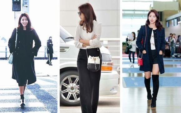 Phong cách thời trang dịu dàng thường thấy của Park Shin Hye