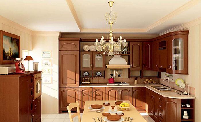 Mẫu phòng bếp cổ điển đẹp dành cho nhà biệt thự 02