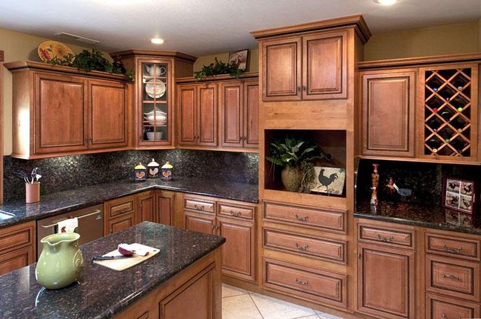 Mẫu phòng bếp cổ điển đẹp dành cho nhà biệt thự 03