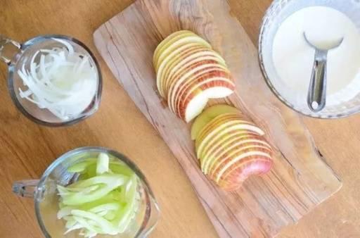 6.Công thức hành tây + táo, trong 7 ngày loại bỏ chất béo và tàn nhang, đồng thời chống lão hóa