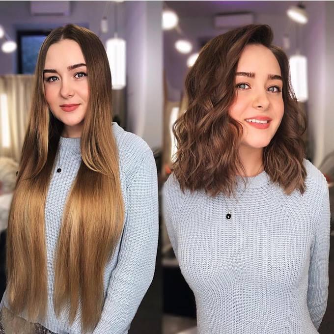 Mái tóc bob dài xoăn sóng nước đẹp mắt của cô gái này chắc chắn sẽ khiến ai cũng phải trầm trồ.