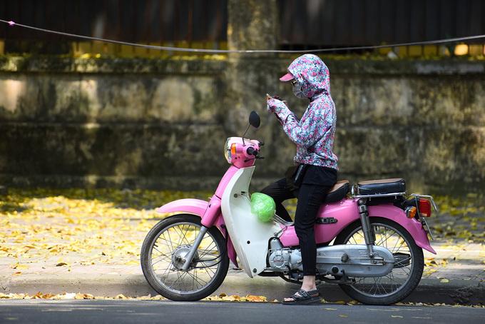 """Khung cảnh nên thơ, """"so deep"""" đến vậy khiến nhiều người không kìm lòng được, đang chạy xe cũng phải tấp vào lề đường, ghi vội những khoảnh khắc lãng mạn mỗi năm chỉ có một lần ở Hà Nội."""