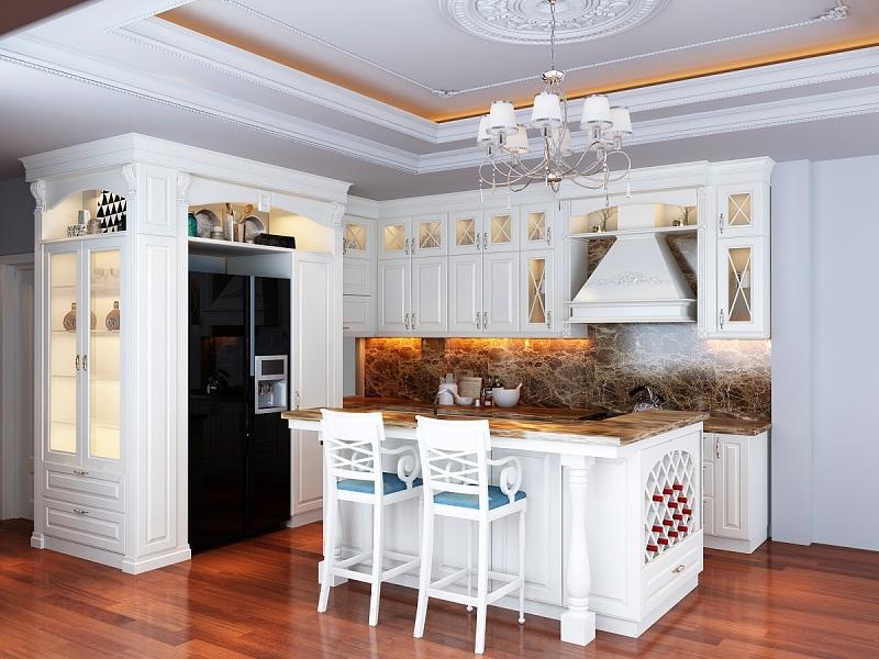 23.Top 10 mẫu tủ bếp tân cổ điển sang trọng đang lên ngôi năm 20193