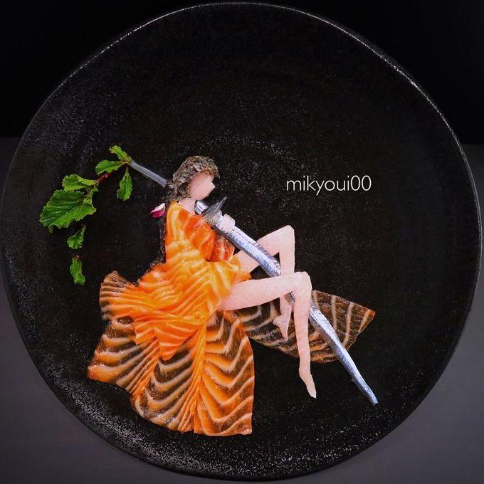 4.Người đàn ông Nhật biến sashimi thành tranh 3D đẹp không nỡ ăn10