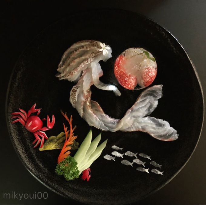4.Người đàn ông Nhật biến sashimi thành tranh 3D đẹp không nỡ ăn13