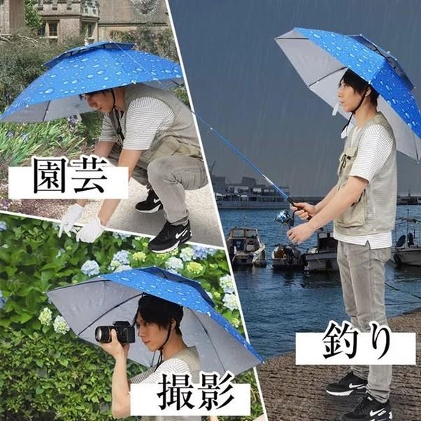 Phụ kiện được nhà mốt thế giới lăng xê thực chất là một sáng tạo của người Nhật Bản. Đây là mẫu ô đội đầu sử dụng tiện lợi vào mùa mưa.