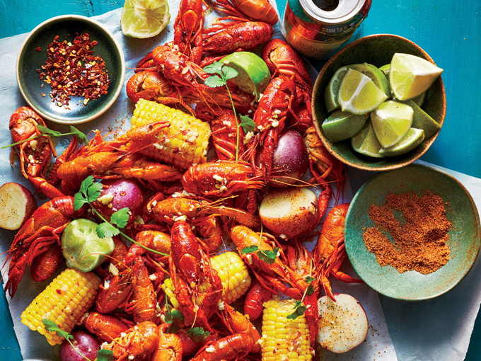 Coastal Living: Gather: Viet Cajun Crawfish Boil ginger beurre blanc