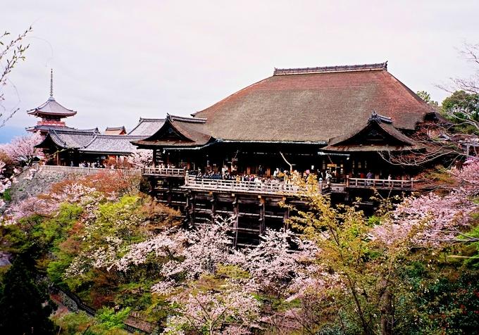 Ngôi chùa này nổi tiếng bởi được ghép bằng những thanh gỗ mà không sử dụng đến một chiếc đinh vít nào. Ngoài ra, tương truyền chùa có dòng nước phun tự nhiên gọi là Otowanotaki, được cho là dòng nước linh thiêng giúp đỗ đạt trong học tập, toại nguyện về tình duyên, mạnh khoẻ sống lâu.