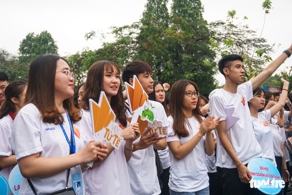 Ngày hội còn nhận được sự hưởng ứng của đông đảo các bạn trẻ trên địa bàn TP Hà Nội - Ảnh: NGUYỄN HIỀN