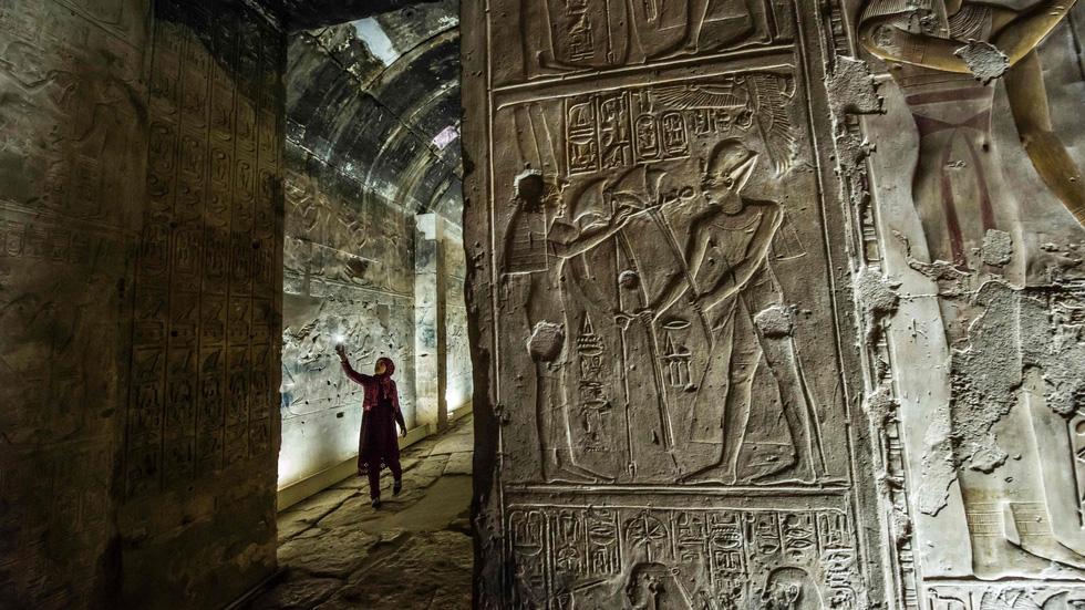 Thành phố cổ Abydos là một trong thành phố những lâu đời nhất ở Ai Cập. Đền tưởng niệm Seti I trong ảnh được xây dựng vào thế kỷ 16 đến thế kỷ 11 trước Công nguyên - Ảnh: AFP/Getty Images