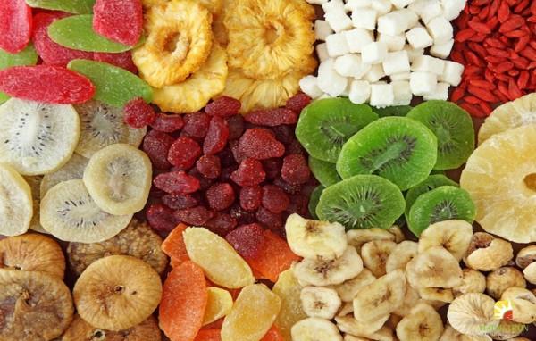 Các loại trái cây khô thường sẽ chứa nhiều đường hơn các loại trái cây tươi.