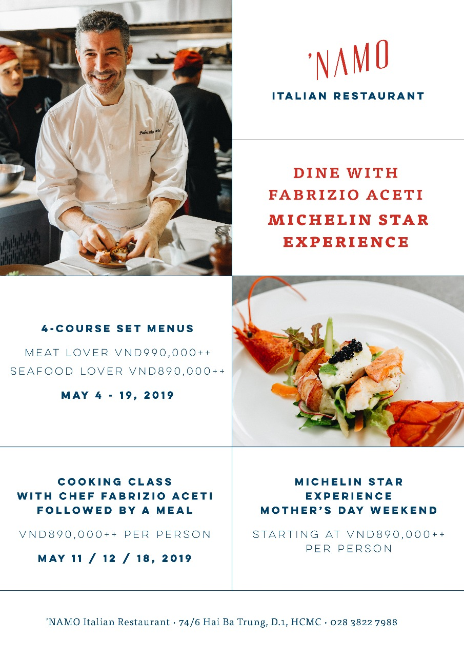 Dine with Fabrizio Aceti - Michelin Experience