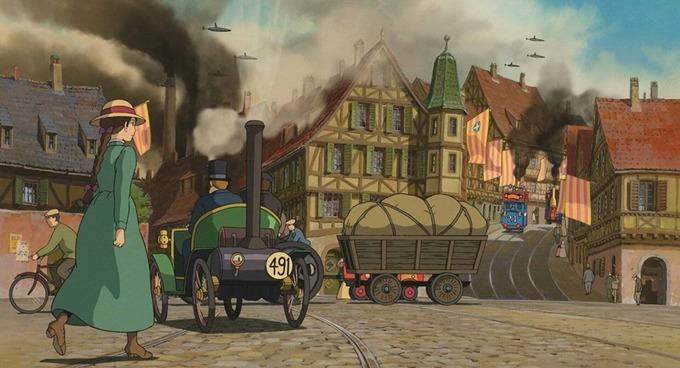 Nếu là fan của phim hoạt hình Ghibli, bạn sẽ nhanh chóng nhận ra hình ảnh quen thuộc này trong Howl's Moving Castle ra mắt vào năm 2004. Họa sĩ Miyazaki Hayao đã lấy cảm hứng từ làng cổ Colmar khi vẽ bối cảnh phim.