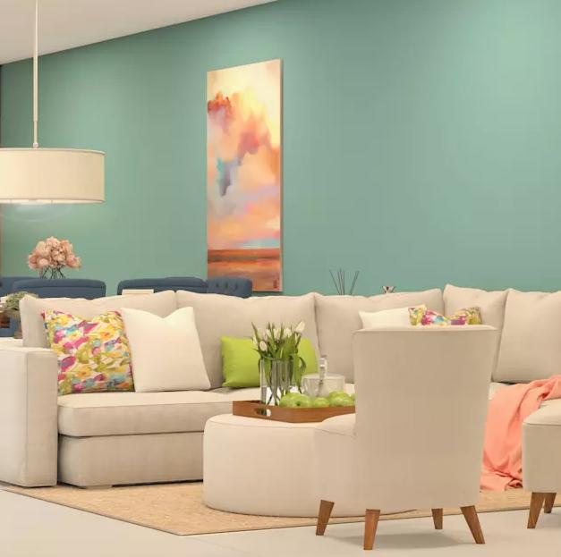 5.Các mẫu trang trí phòng khách đẹp cho người trẻ tuổi9