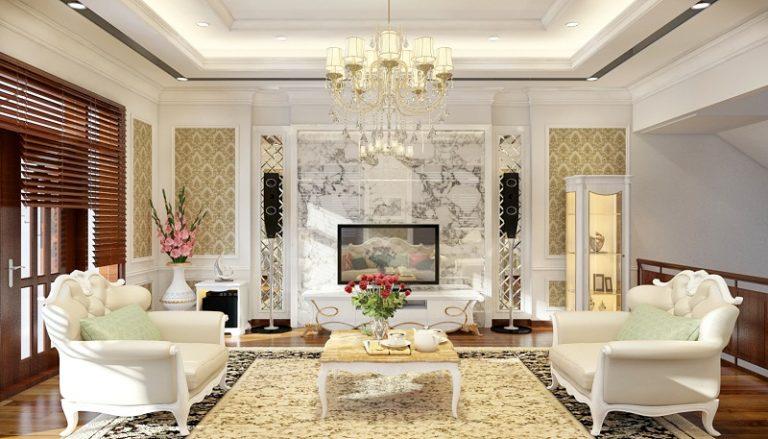 Phong cách tân cổ điển Châu Âu luôn được các gia chủ ưu tiên chú trọng khi trang trí và mua sắm nội thất, đặc biệt đối với phòng khách, mọi khâu còn được chú trọng hơn nữa.