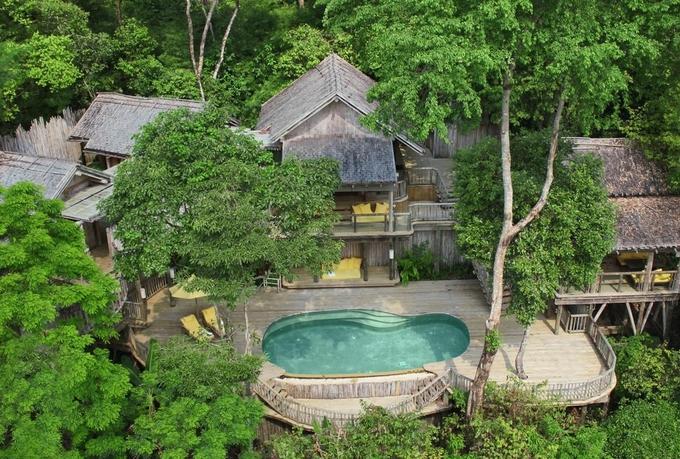 9.Resort Thái Lan nơi bạn được phục vụ bữa ăn lơ lửng giữa rừng