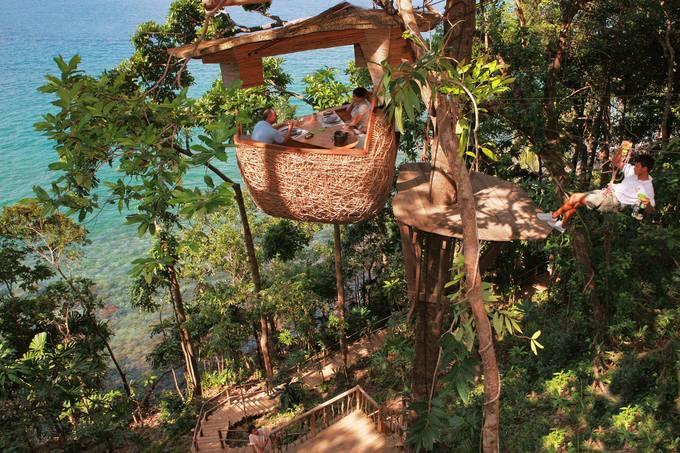 9.Resort Thái Lan nơi bạn được phục vụ bữa ăn lơ lửng giữa rừng1