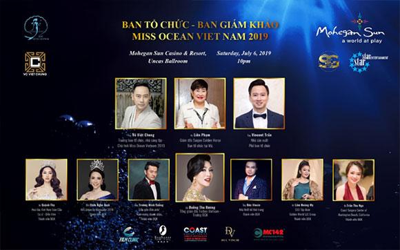 Poster chính thức Ban giám khảo của Miss Ocean Vietnam 2019.