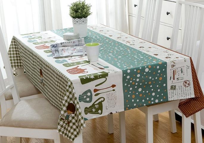 Khăn trải bàn làm sống không gian ngôi nhà bạn