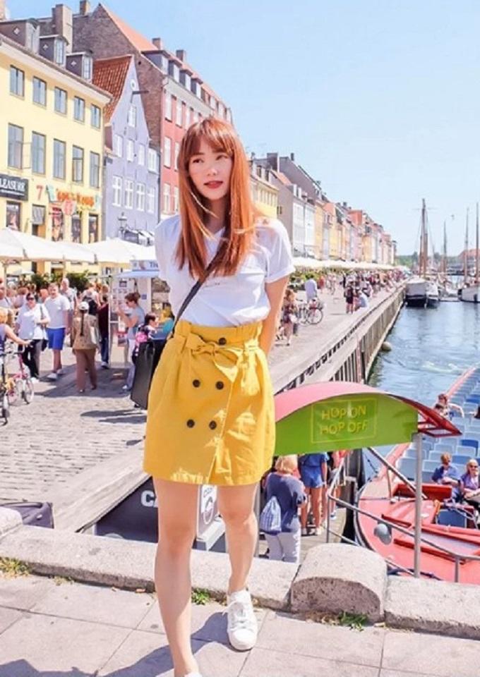 16.Minh Hằng 'ăn ngập mặt' trong chuyến du lịch Đan Mạch