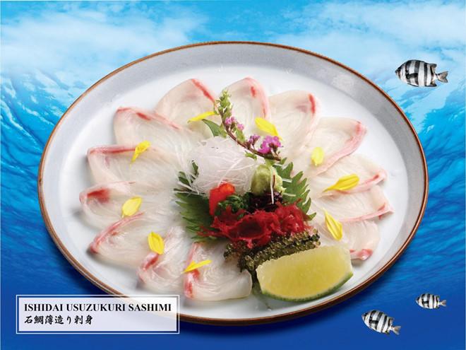 Món Ishidai Usuzukuri dùng kèm sốt Ponzu mang lại hương vị khác biệt