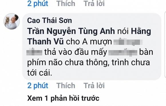 Cao Thái Sơn mỉa mai đồng nghiệp và dùng từ thô tục khi đối đáp dân mạng