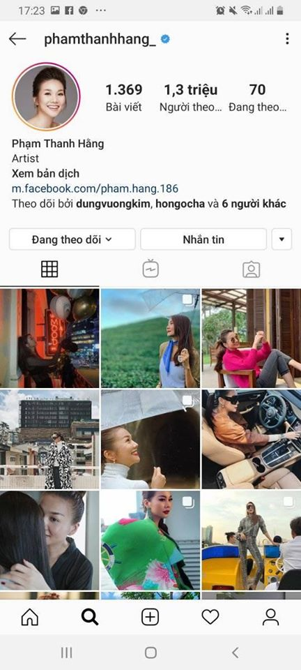 Với sự nỗ lực đổi mới hình ảnh, Thanh Hằng cũng thu về lượt theo dõi khá khủng trên Instagram.