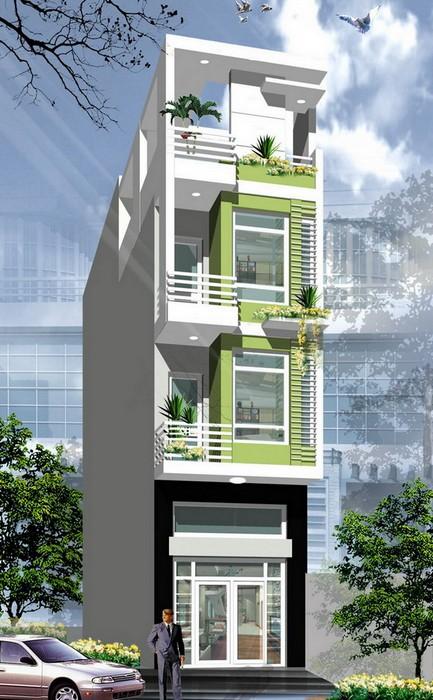 Thiết kế nhà phố hiện đại đẹp 01