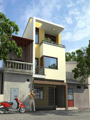 Thiết kế nhà phố hiện đại đẹp 16