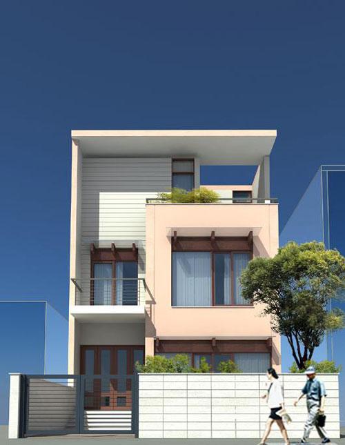 Thiết kế nhà phố hiện đại đẹp 03