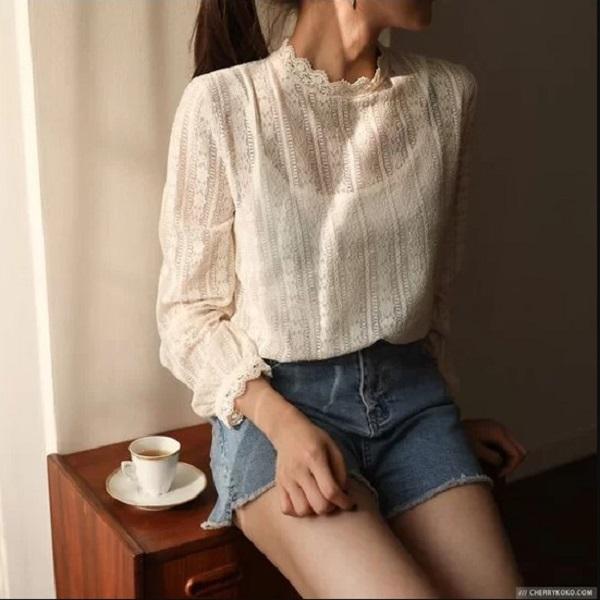 4.Cách tránh phản cảm khi mặc áo xuyên thấu đi làm9