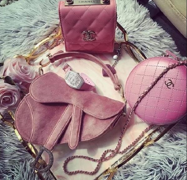 6.Bộ sưu tập hàng hiệu toàn màu hồng của Ngọc Trinh3