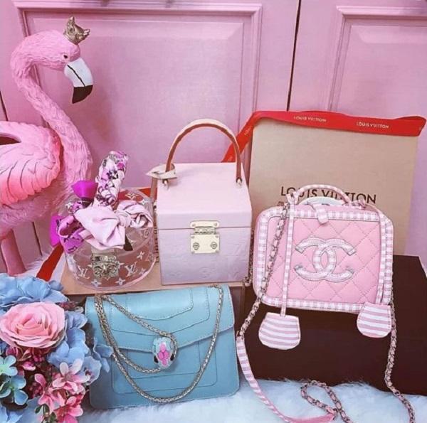 6.Bộ sưu tập hàng hiệu toàn màu hồng của Ngọc Trinh7