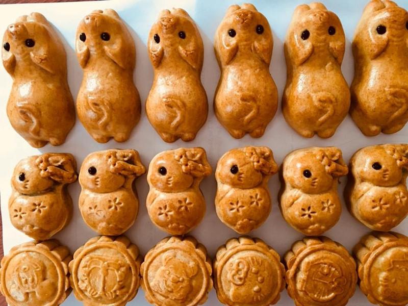 Bánh trung thu hình các con vật đáng yêu (