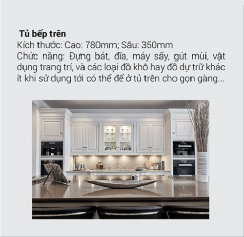 8.10 Kích thước tiêu chuẩn và chức năng chính của tủ bếp mà bạn muốn biết1