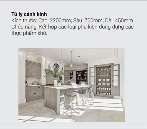 8.10 Kích thước tiêu chuẩn và chức năng chính của tủ bếp mà bạn muốn biết8