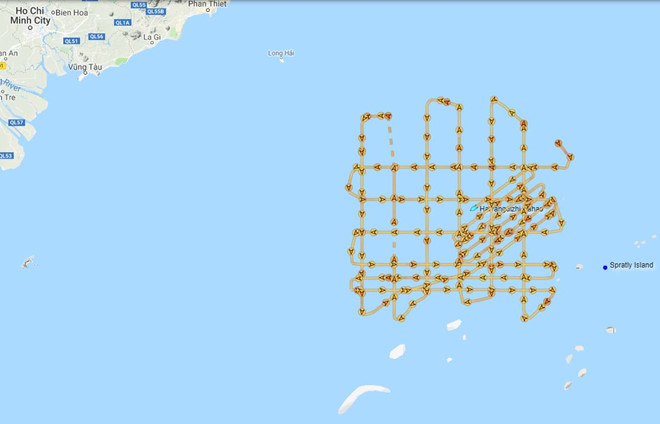 Hoạt động phi pháp của tàu Hải dương Địa chất 8 của Trung Quốc tới ngày 19.7 Twitter Ryan Martison