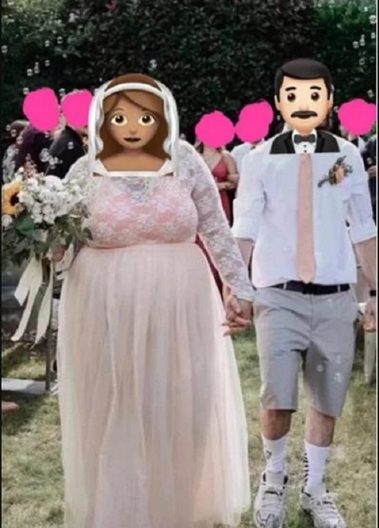 14.Chú rể bị chỉ trích vì diện quần short, giày sneaker trong hôn lễ