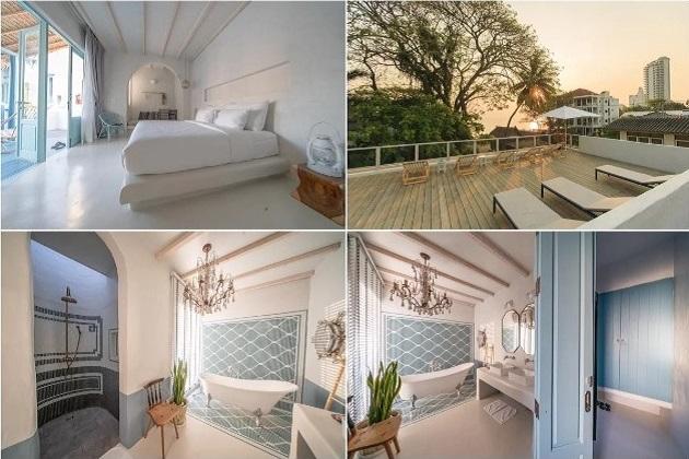 Không gian bên trong phòng ngủ cũng đủ góc cho bạn chụp ảnh không biết chán. Ghế nghỉ trên sân thượng cho khách ngắm mặt trời lặn nơi vùng quê xứ chùa vàng.