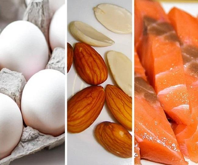 Không ăn đủ lượng protein cần thiết  Protein là chất dinh dưỡng quan trọng nhất trong chế độ ăn kiêng. Thực đơn đủ protein giúp bạn no lâu, tiêu hao năng lượng và mỡ thừa hiệu quả, đồng thời, xây dựng cơ bắp, giúp giảm cân bền vững.