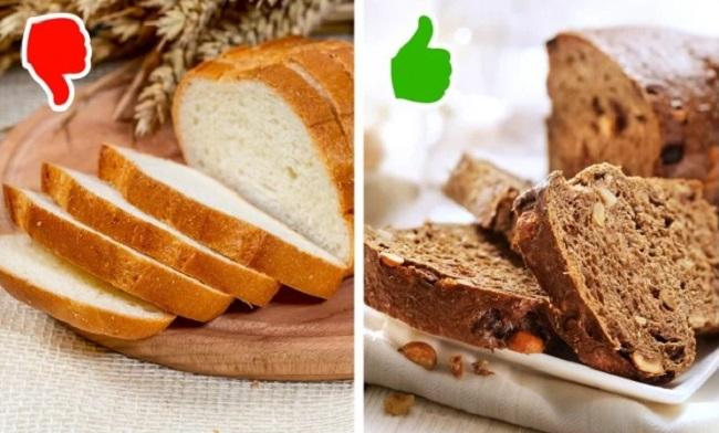 Thiếu chất xơ  Chất xơ giúp bạn no lâu, thúc đẩy trao đổi chất, hạn chế tích tụ mỡ thừa. Thiếu hụt chất xơ khiến bạn khó giảm cân hơn. Ngoài việc tích cực ăn rau xanh, hoa quả, bạn có thể thêm chất xơ vào chế độ ăn bằng cách thay thế bánh mì trắng bằng bánh mì nâu, ngũ cốc nguyên cám...
