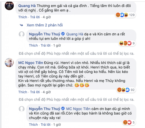 Quang Hà và MC Ngọc Tiên cũng an ủi Thu Thuỷ