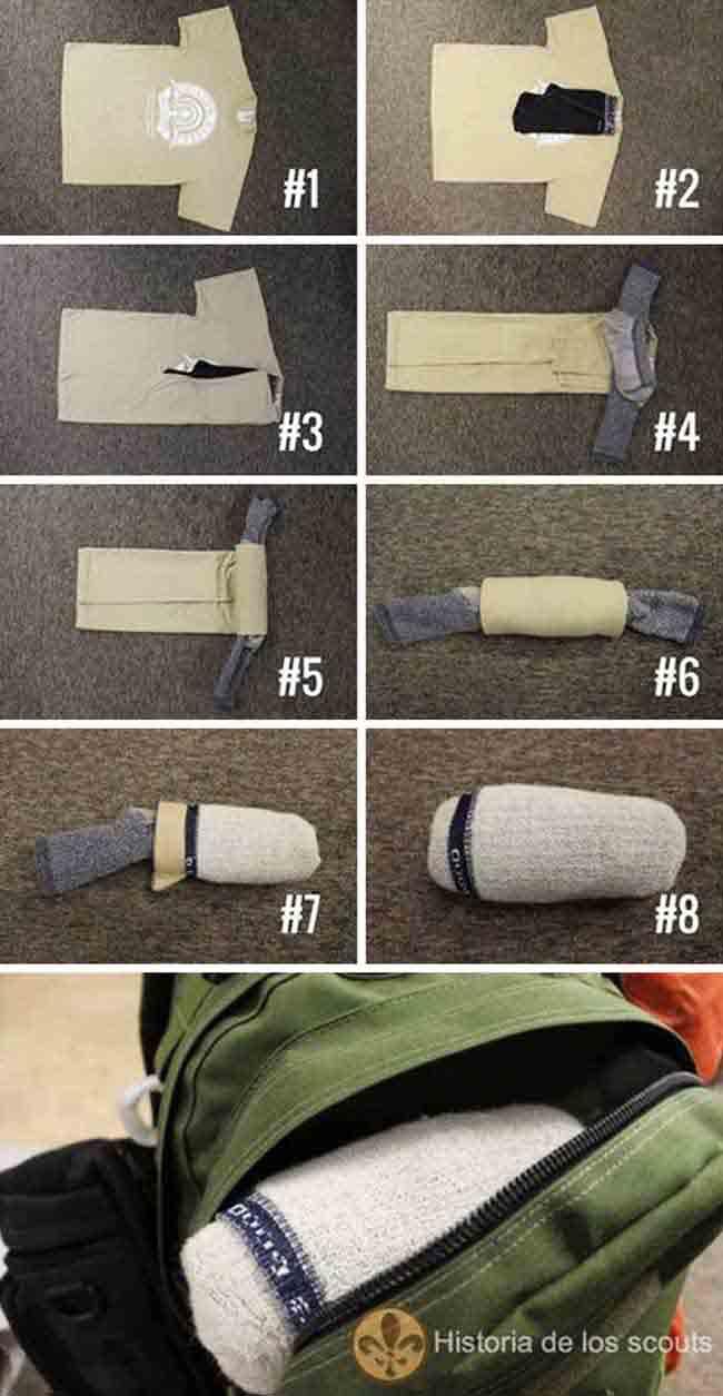 10. Cách đơn giản để sắp xếp quần áo cực gọn gàng khi du lịch.