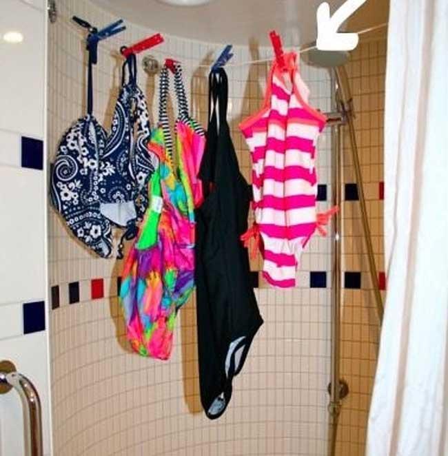 5. Đây là cách để phơi đồ bơi đúng cách