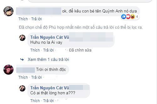 """Khi được dân mạng nhắc tên Quỳnh Anh, Tim hồi đáp: """"Huhu nó là ai vậy""""."""